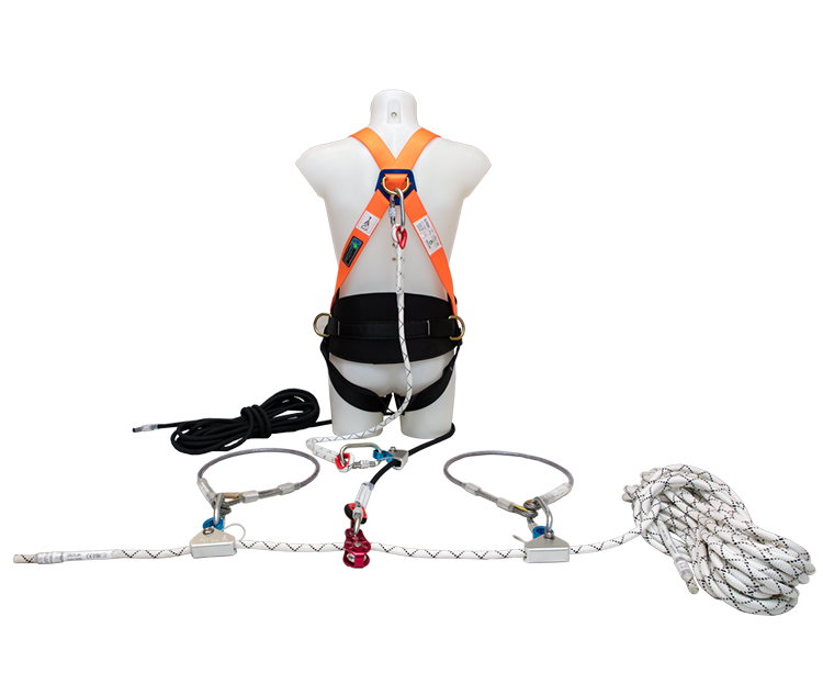 The Edgepro 20m Lifeline is a temporary horizontal lifeline